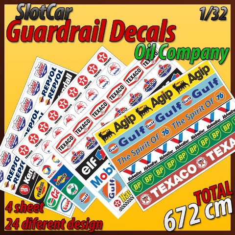 MHS Self-Adhesive Guardrail Decals (Oil Company)