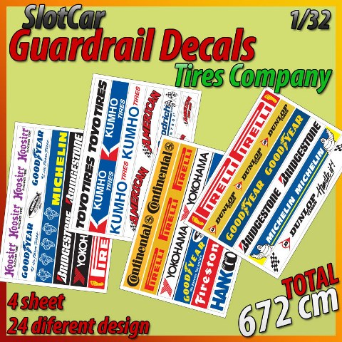 MHS Self-Adhesive Guardrail Decals (Tire Company)