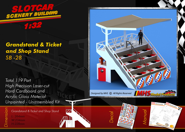MHS Grandstand with Ticket and Shop Stand 1x