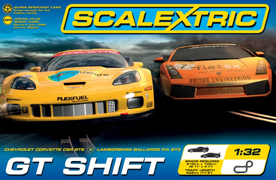 GT Shift Lambo vs Corvette 1/32 Race Set