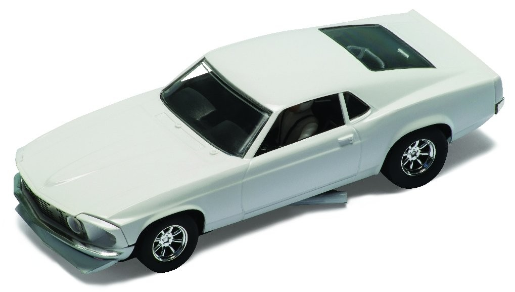 '70 White Ford Mustang 1/32 Slot Car