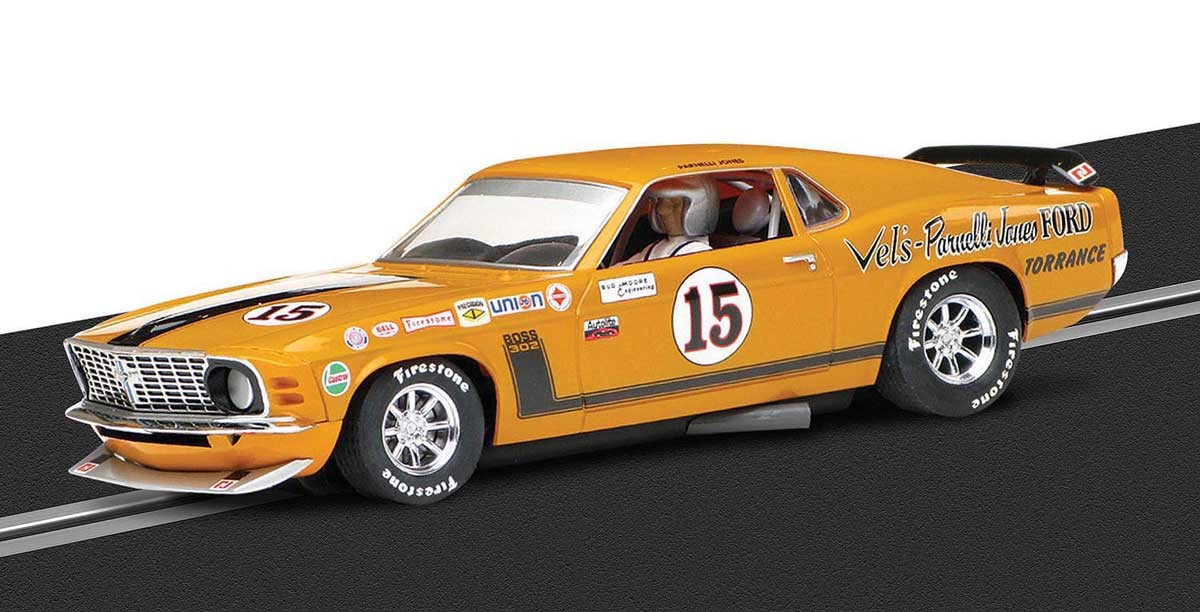 '69 Boss Mustang #15 1/32 Slot Car