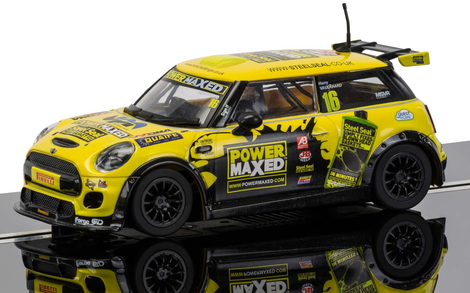 BMW MINI Cooper F56 - MINI Challenge 2015 Harry Vaulkhard #16 1/32 Slot Car