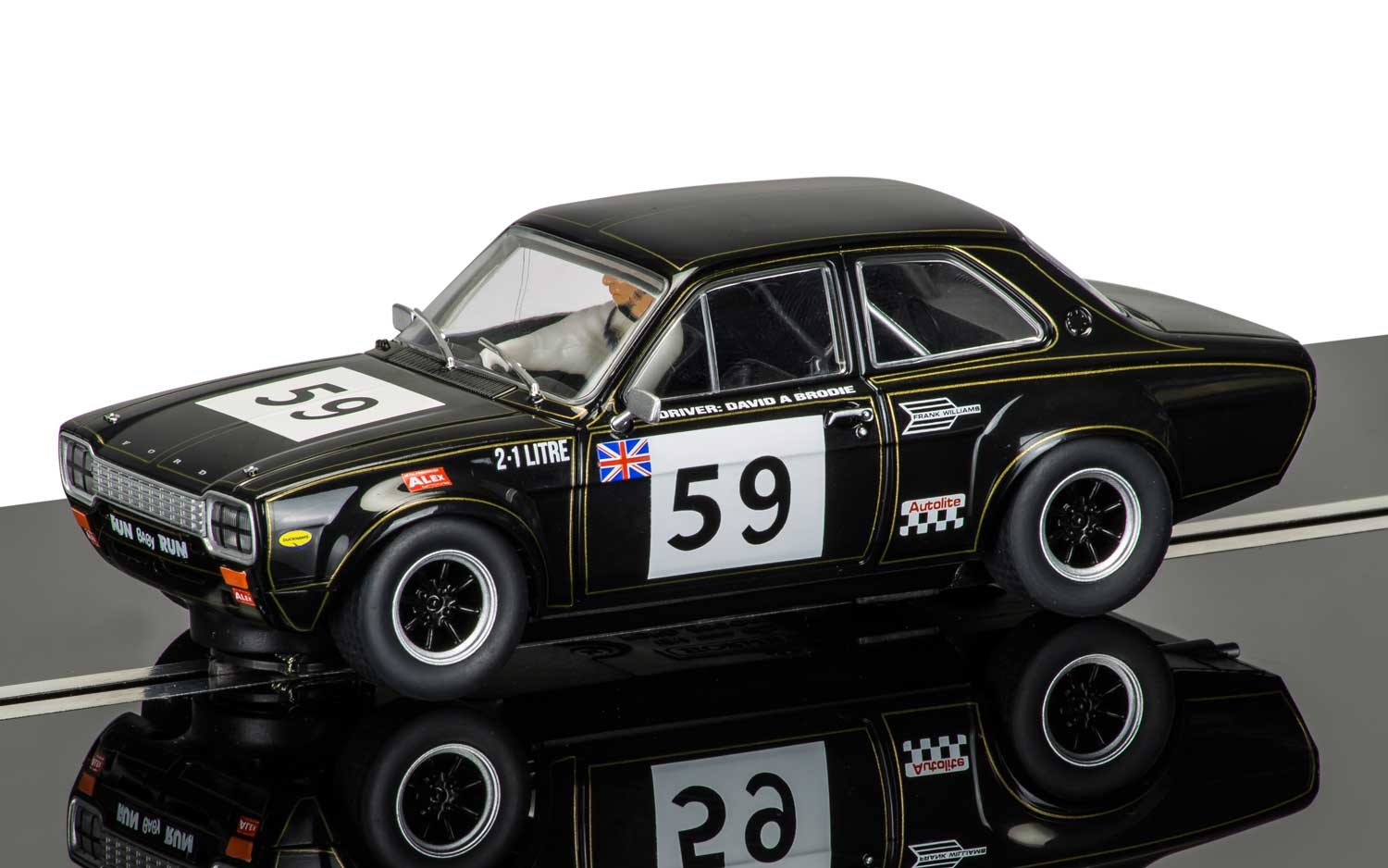 Ford Escort Mk1 - Crystal Palace 1971 David Brodie #59 1/32 Slot Car