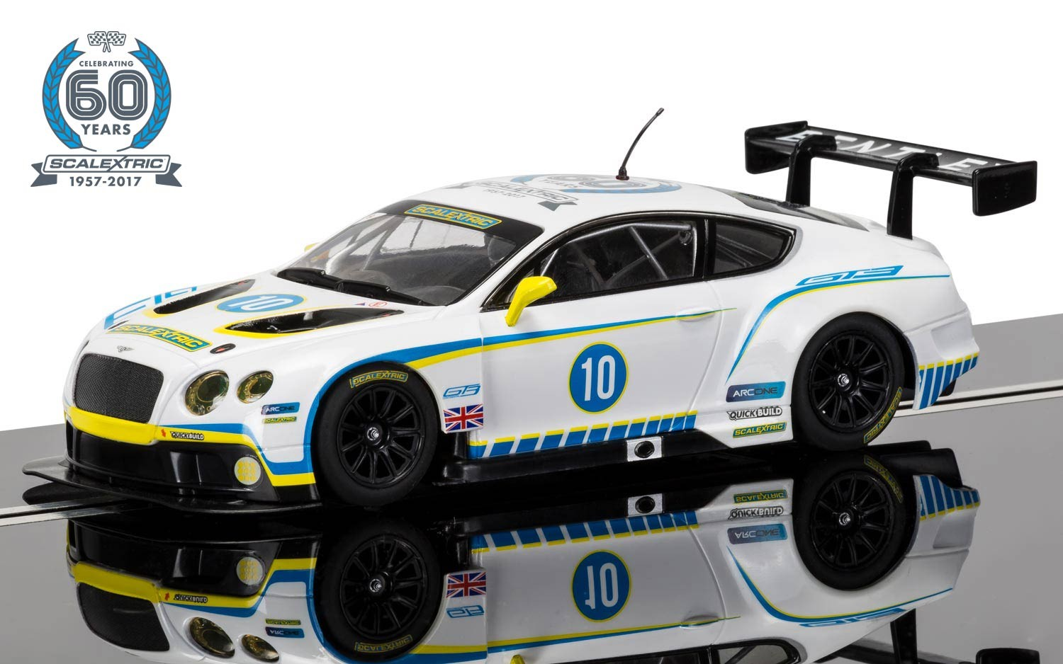 60th Anniv Collection - 2010s Bentley Continental GT3 LE #10 1/32 Slot Car