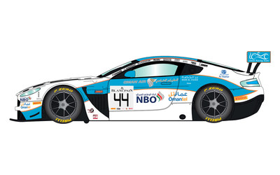 Aston Martin Vantage GT3 Oman Racing #44 1/32 Slot Car