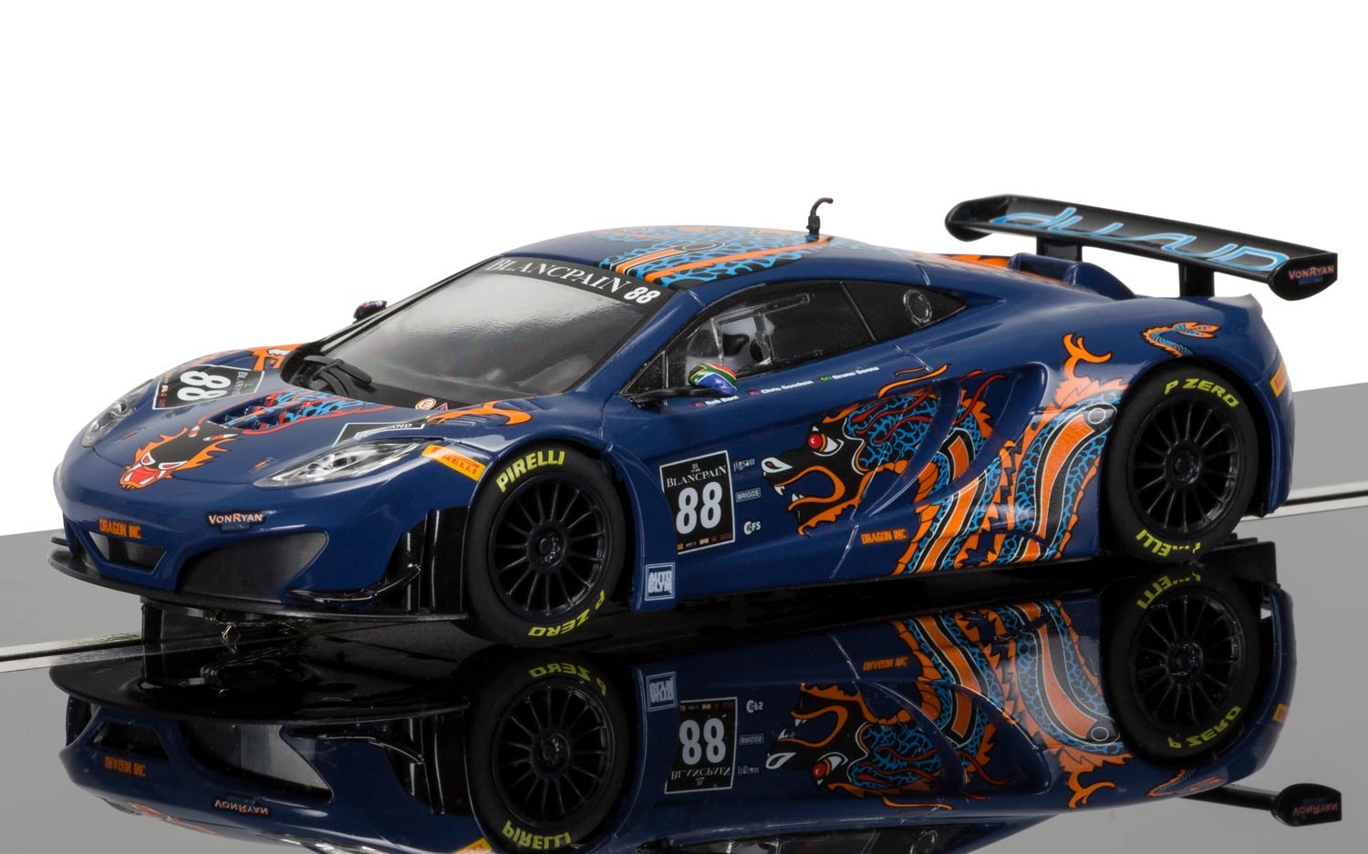 McLaren 12C GT3, Von Ryan Racing #88 1/32 Slot Car