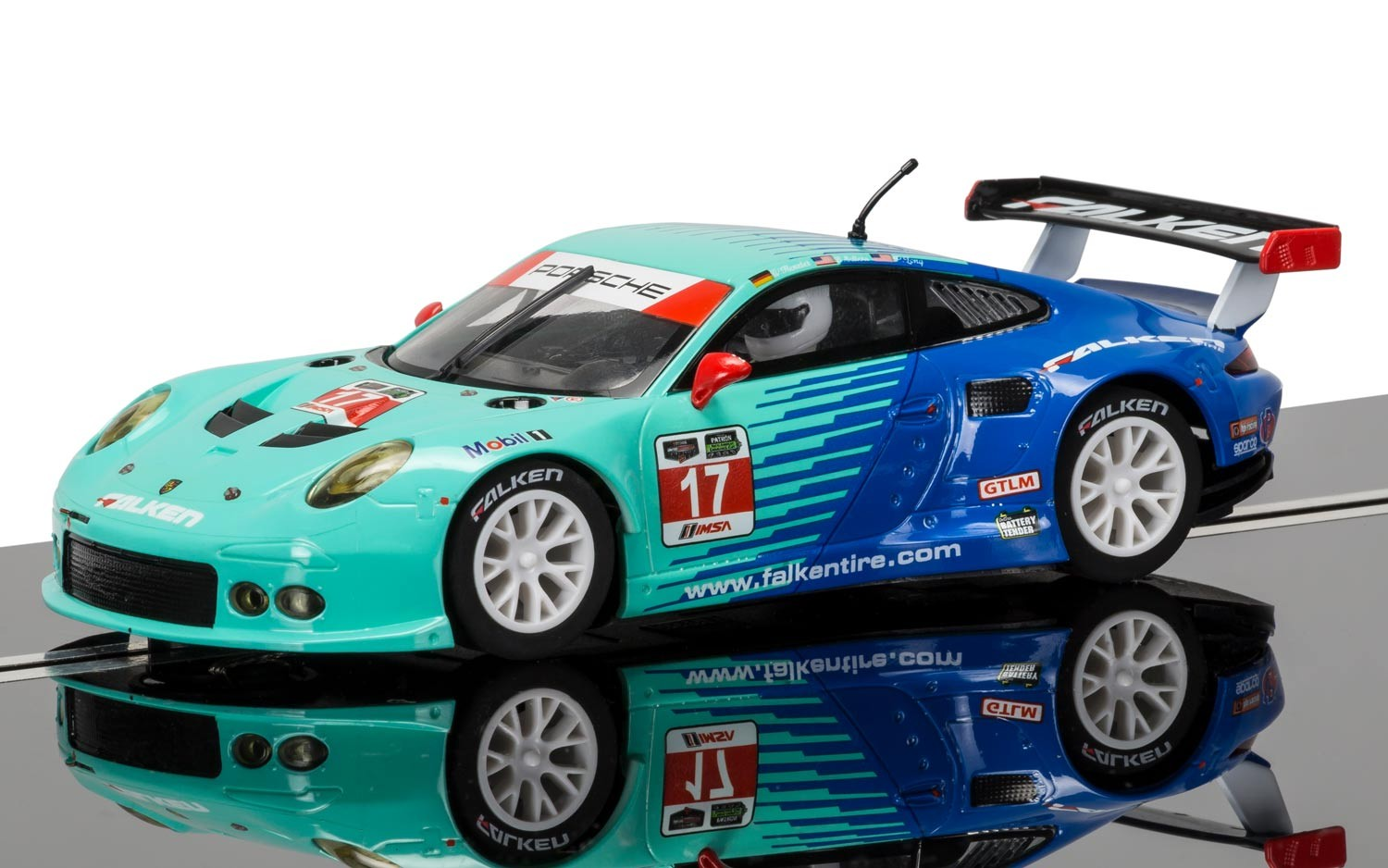 Porsche 911 RSR, Falken Tire #17 1/32 Slot Car
