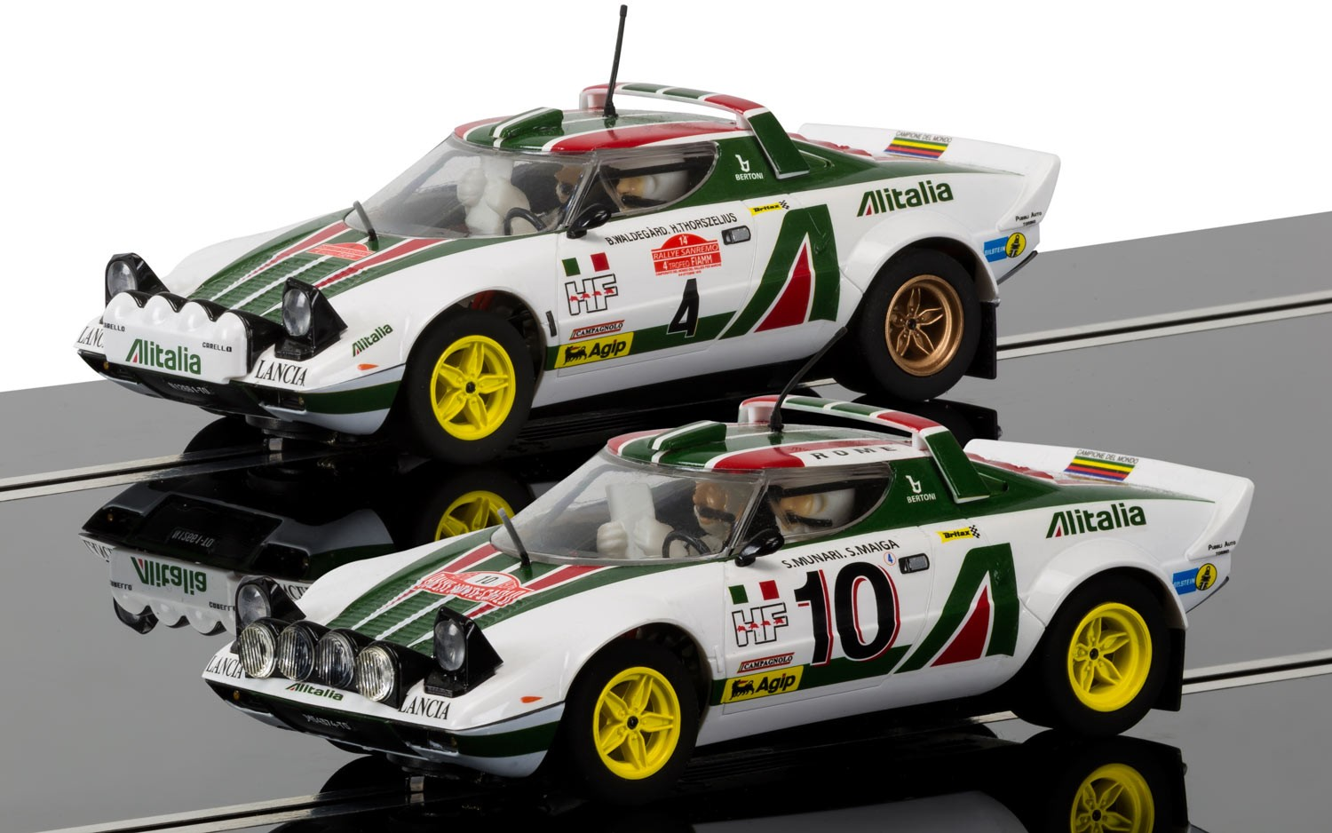 Legends Lancia Stratos 1976 Rally Champions Twinpack - LE 1/32 Slot Car