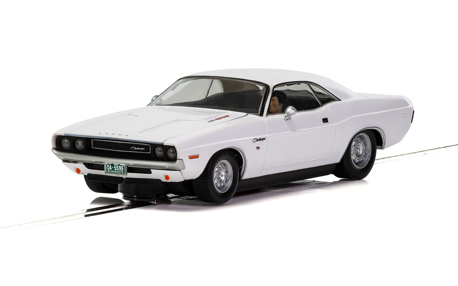 1970 Dodge Challenger White 1/32 Slot Car
