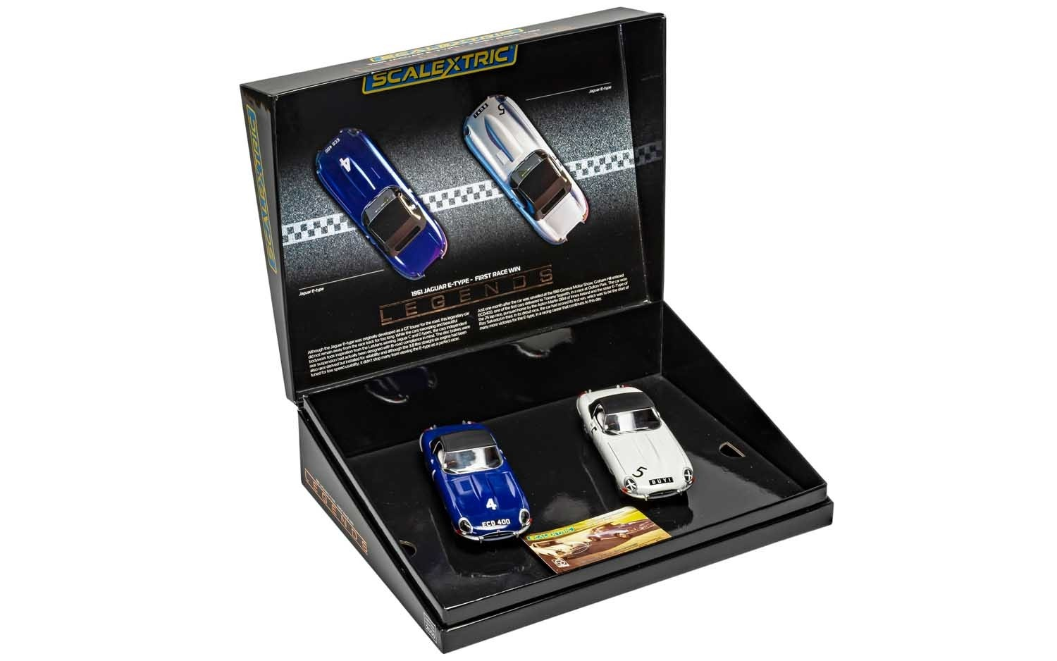 Jaguar E-Type First Win 1961 Twin Pack 1/32 Slot Car