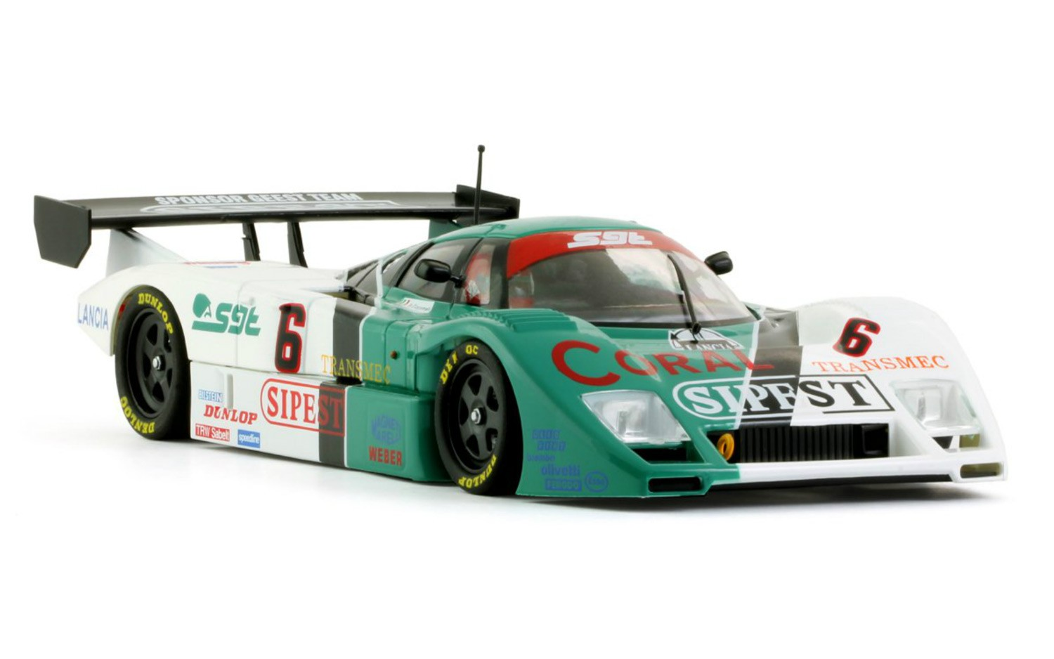 "Lancia LC2-85 ""SIPEST"" #6 1/32 Slot Car"