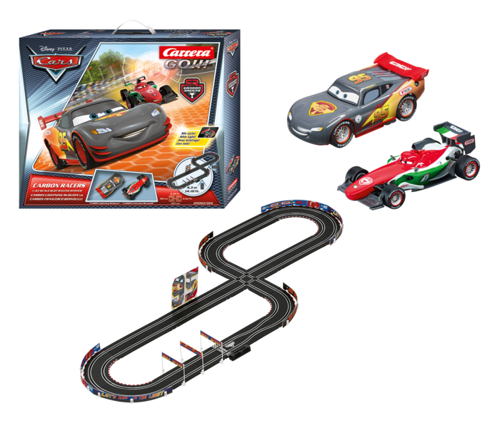 GO!!! Cars Carbon Racers Race Set