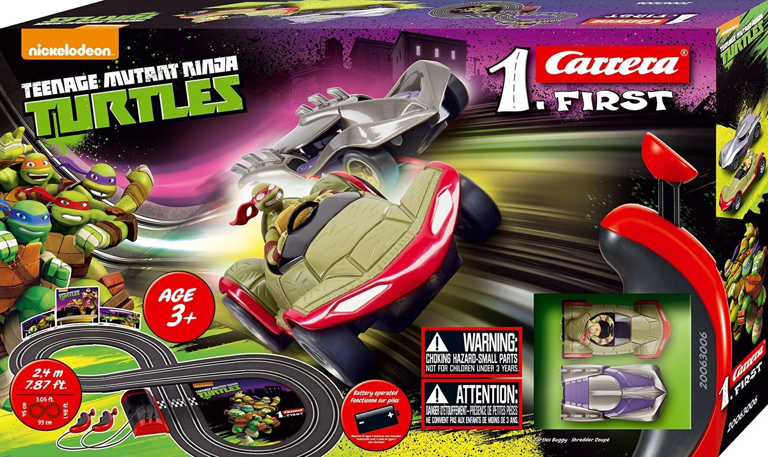 1.First Teenage Mutant Ninja Turtles Race Set (Battery)