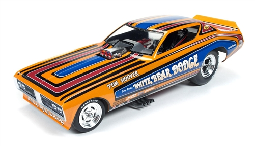 '71 White Bear Dodge Charger Funny Car 1:18 Die Cast