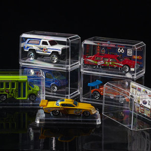 1/64 Crystal Clear Car Display Cases (6pk)