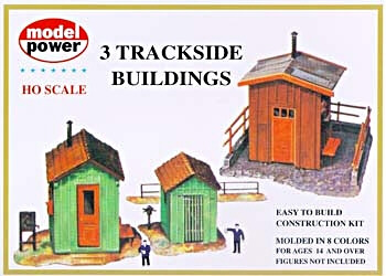 HO 3 Trackside Buildings Kit