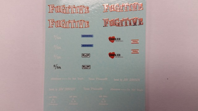 """Fugitive"" Decal Set"