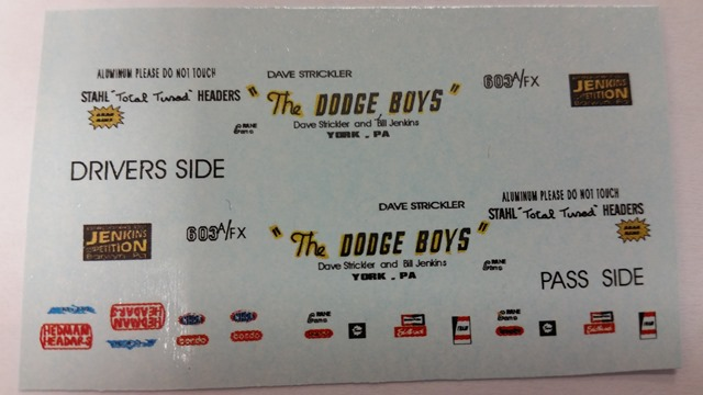 """Dodge Boys"" Decal Set"