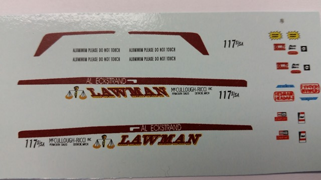 """Lawman"" Decal Set"