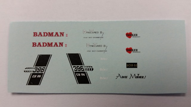 """BADMAN"" Decal Set"