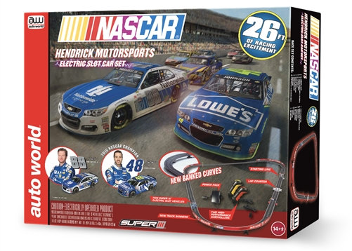AW NASCAR 26' Hendricks Motorsports Electric Slot Car Set