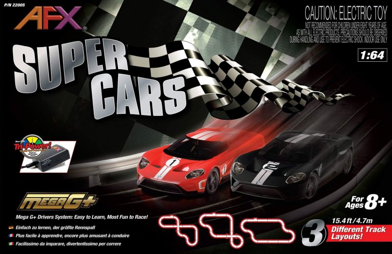 AFX Super Cars Race Set