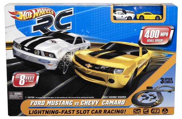 R/C Ford Mustang vs. Chevy Camaro Slot Car Set