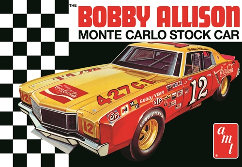 Coca Cola Bobby Allison 1972 Chevy Monte Carlo Stock Car 1:25 Plastic Model Kit