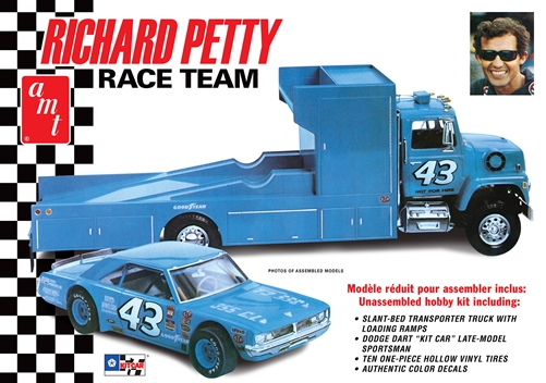 Richard Petty Race Team (Dodge Dart Sportsman & LN8000 Hauler Truck) 1:25 Plastic Model Kit