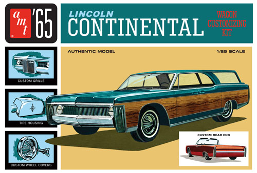1965 Lincoln Continental 1:25 Plastic Model Kit