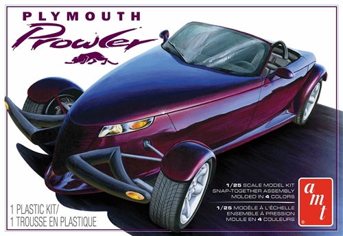 1997 Plymouth Prowler w/Trailer 1:25 Snap Plastic Model Kit