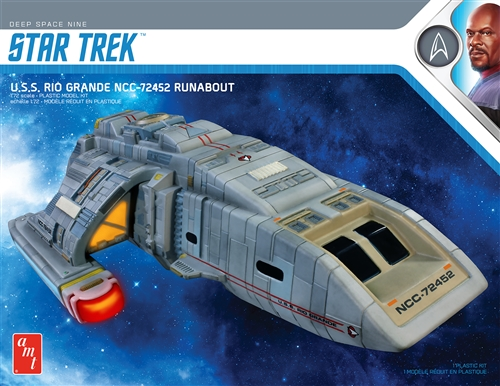 Star Trek DS9 Rio Grande Runabout 2T 1:72 Snap Plastic Model Kit