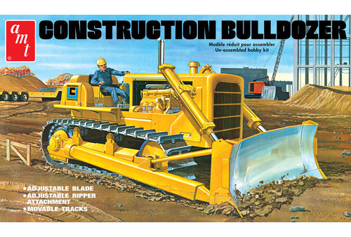 Construction Bulldozer 1:25 Plastic Model Kit