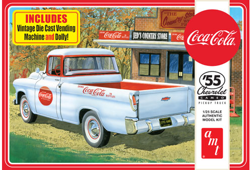 1955 Chevy Cameo Pick Up (Coca-Cola) 1:25 Plastic Model Kit