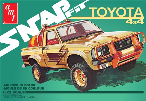 1980 Toyota Hilux SR5 Pickup 2T 1:25 Snap Plastic Model Kit