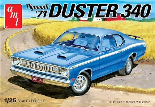 1971 Plymouth Duster 340 1:25 Plastic Model Kit