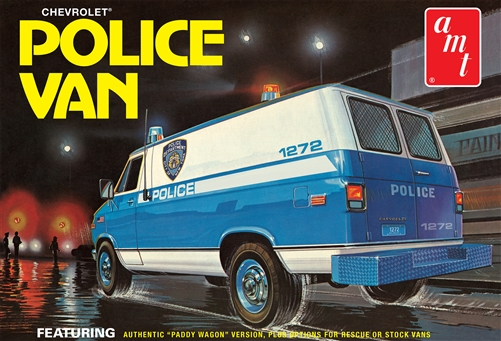 Chevy Police Van, NYPD 1:25 Plastic Model Kit