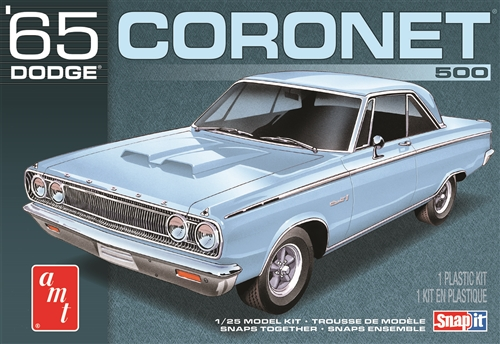 1965 Dodge Coronet (Snap) 1:25 Scale Model Kit