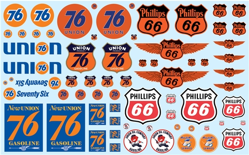 Phillips 66 & Union 76 Trucking 1:25 Decal Pack