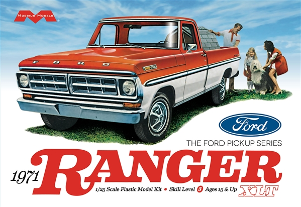 '71 Ford Ranger Pickup 1:25 Plastic Model Kit