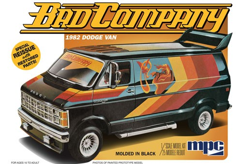 "1982 Dodge Van ""Bad Company"" 1/25 Model Kit"