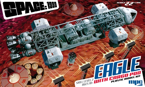 Space 1999: Eagle Transporter w/Cargo Pod 1:48 Plastic Model Kit