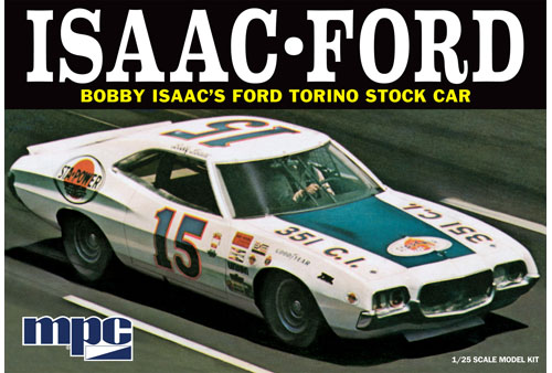 1972 Ford Torino Stock Car - Bobby Isaac #15 Sta-Power 1/25 Model Kit