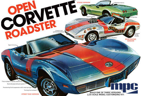 1975 Chevy Corvette Convertible 1/25 Model Kit