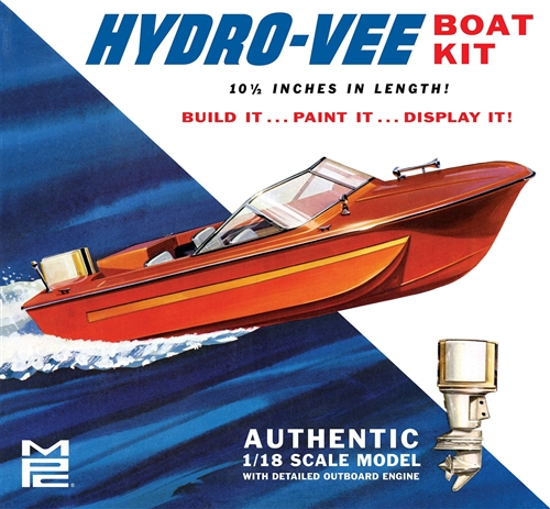 Hydro-Vee Boat 1:18 Plastic Model Kit