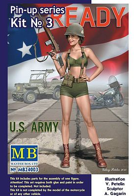 Alice US Army Pin-Up Series #3 1:24 Plastic Model Kit