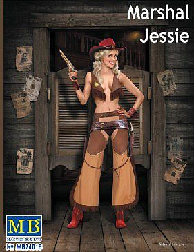Marshal Jessie Western Style Pin-Up Cowgirl 1:24 Plastic Model Kit