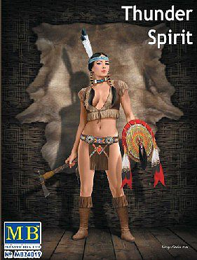 Thunder Spirit Western Style Pin-Up Indian Girl 1:24 Plastic Model Kit