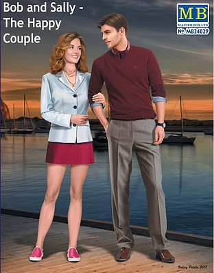 Bob & Sally Modern Couple 1:24 Plastic Model Kit